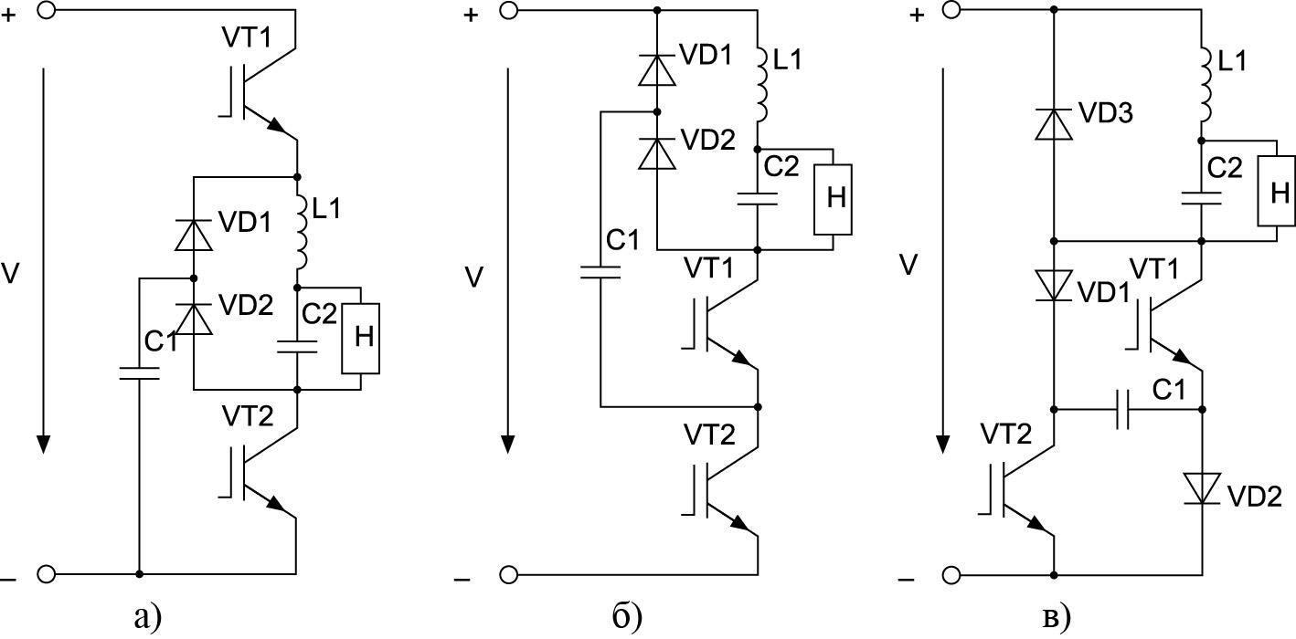 КПДПЭ с резонансным реактором в цепи постоянного тока
