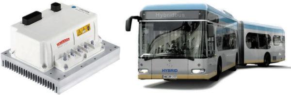 Модуль «Стартер-генератор» является неотъемлемой частью гибридных автобусов и грузовиков, оснащенных системой «старт-стоп». Низковольтный блок SKAI 2LV на MOSFET-транзисторах с сопротивлением открытого канала 0,3 мОм