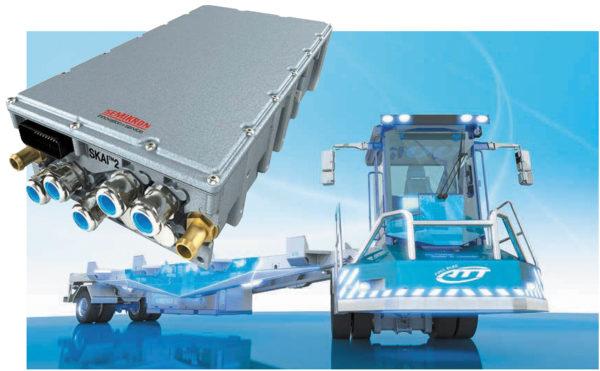 Gaussin Manugistique ATT V3 — тяжелый терминальный трейлер со 100%-ной электрической трансмиссией на базе интеллектуального модуля SKAI 2HV мощностью 250 кВт