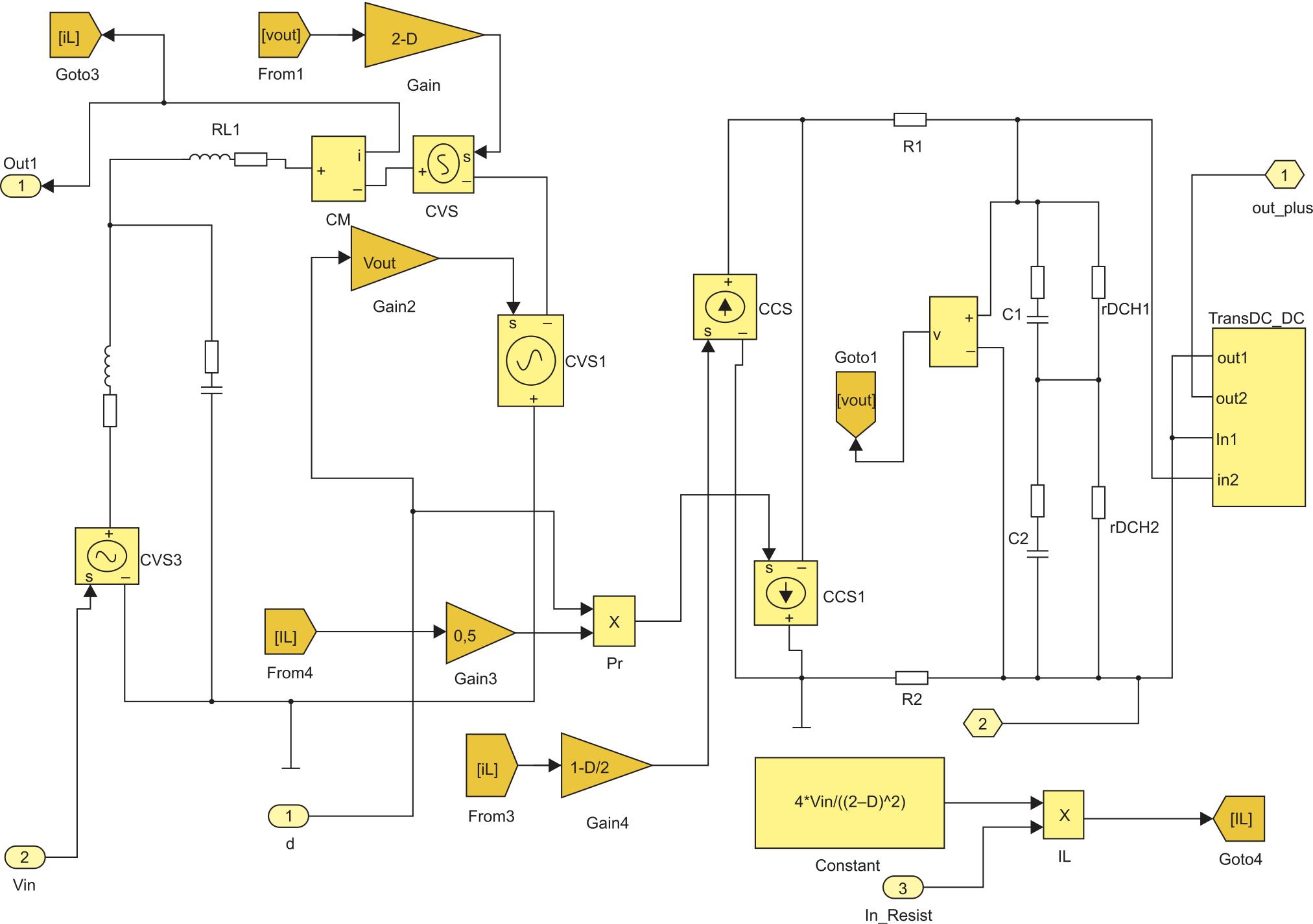 Модель ТПП в режиме 1 в MATLAB