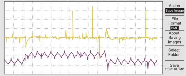 Переходный процесс на выходе ТПП, полученный при эксперименте. Режим с перекрытием, непрерывный ток в дросселе
