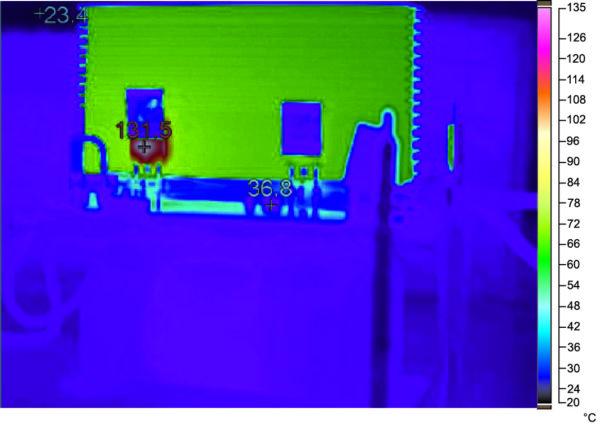 Тепловой профиль при полной нагрузке IGW40N120H3 на частоте 20 кГц