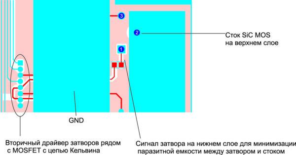 Топология печатной платы для SiC MOSFET с высокой скоростью коммутации