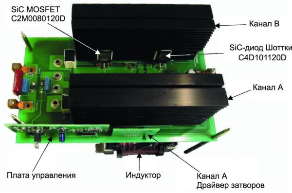 Повышающий конвертер 10 кВт на основе SiC с функцией чередования фаз