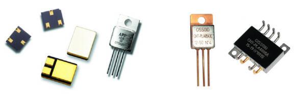 Высоконадежные силовые ключи компании Semelab (слева) и высокотемпературные MOSFET от компании Cissoid (справа)