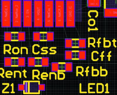 Размещение аналоговых компонентов с детализацией в правой части