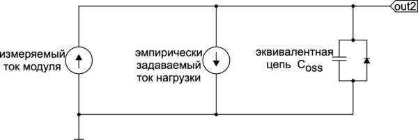 Схема для моделирования перенапряжения