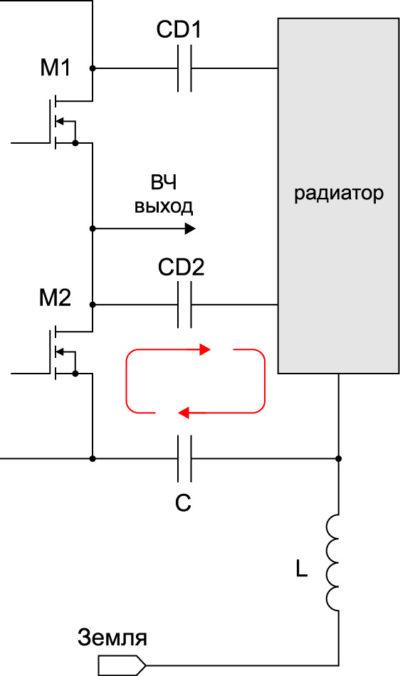 Индуктивно изолированный радиатор