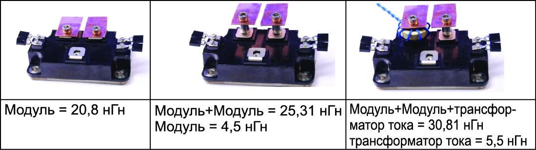 Паразитные индуктивности модуля и цепей подключения