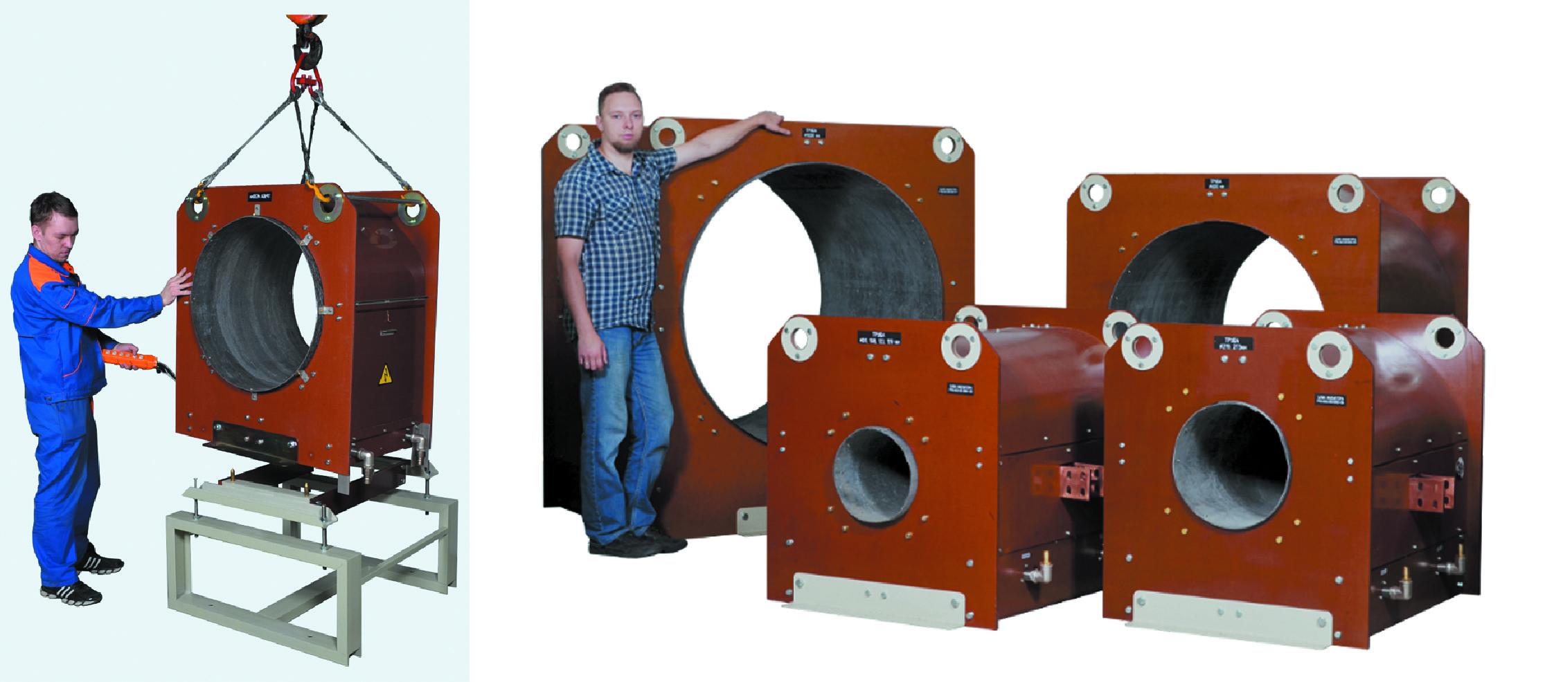 Индукторы для ТВЧ-нагрева труб большого диаметра
