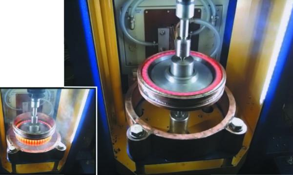 Закалочный станок для нагрева ТВЧ в кольцевом индукторе