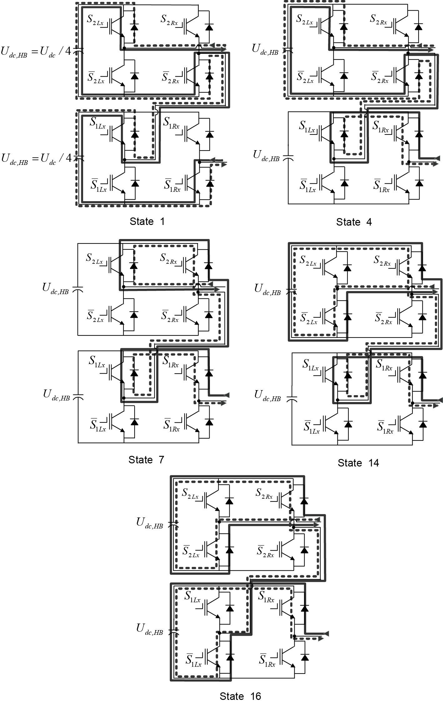 Пути проводимости конвертера 5L-SC2LHB VSC