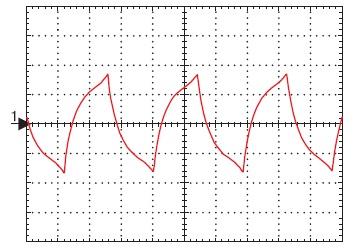 Напряжение «нашлепки», нагруженной на резистор 1 Ом, при U2=9 В