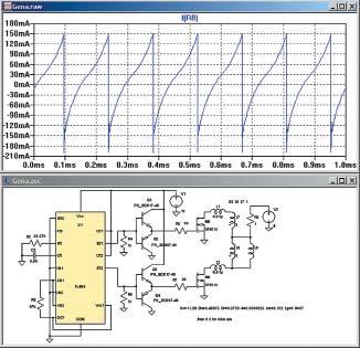 Модель проверочного стенда в программе LTspice IV