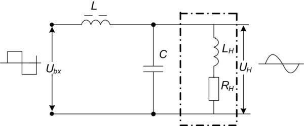 Выходной Г-образный фильтр низкой частоты