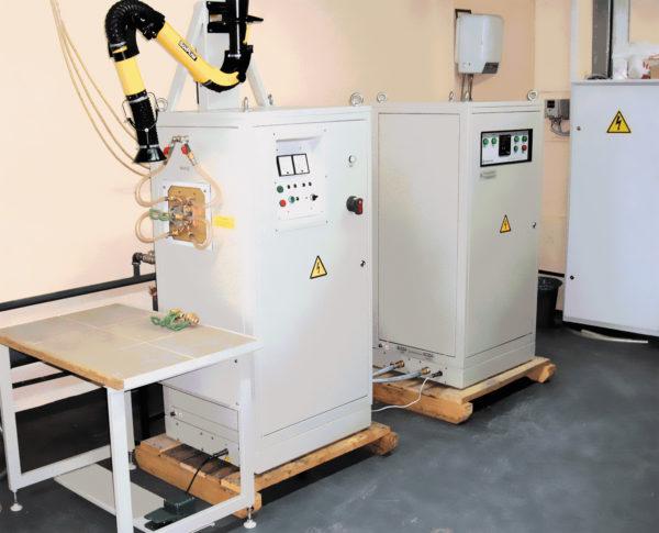 Индукционная установка для пайки режущего инструмента токами ВЧ