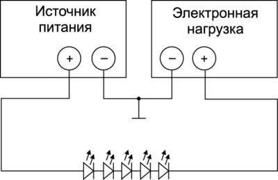 Схема модулирования тока для тестирования ЛД и СД