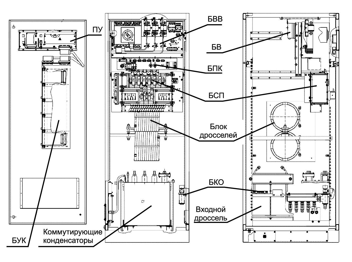 Размещение узлов и основных блоков ППЧ-320-2.4