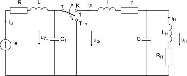 Расчетная схема силовой части СН~Т