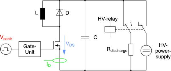 Рис. 4. Схема испытательного стенда для оценки потерь силовых полупроводниковых приборов