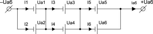 Последовательно-параллельное соединение аккумуляторов в АБ