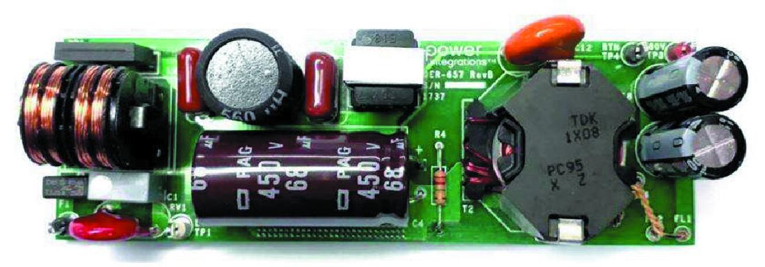 Пример конструктивного исполнения светодиодного драйвера DER-657 на базе LYTSwitch-6 LYT6068C