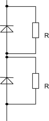Статическая балансировка последовательно включенных диодов