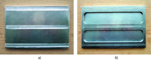 Приварка пластины к основанию нахлесточным швом