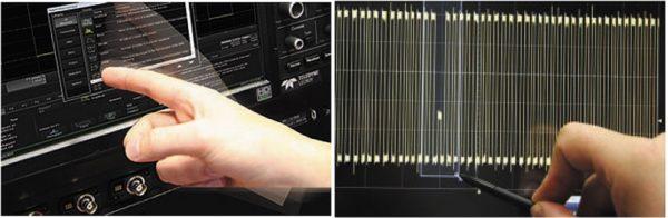 Сенсорное управление касанием пальцом или стилусом