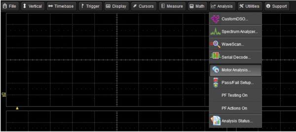 Рис. 4. Главное меню на экране с открытой позицией анализа