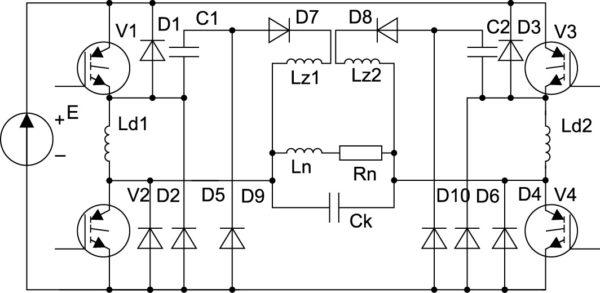 Преобразователь комбинированной структуры с LCD-снабберами [2]