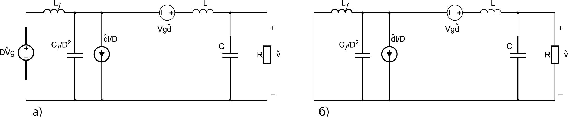 Эквивалентная расчетная схема (согласно схеме рис. 3б):