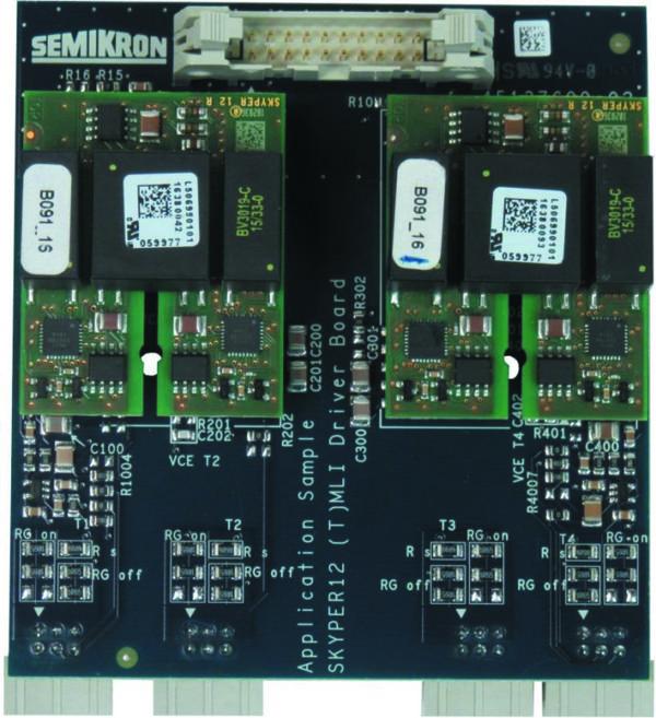 Плата управления SKYPER 12 (T)MLI Driver Board (вид сверху)