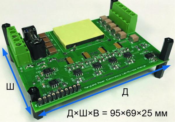 Прототип 400-Вт неинвертирующего понижающе-повышающего (Non-Inverting Buck Boost, NIBB) DC/DC-преобразователя с функцией слежения за максимальной точкой мощности (MPPT)