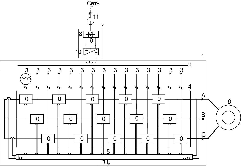 ВЧРП с одиннадцатиуровневым ячейковым автономным инвертором напряжения