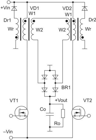 Новая разновидность полумостового повышающего конвертера без силового трансформатора