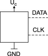 DATA+CLK (CMOS) SINGLE ENDED