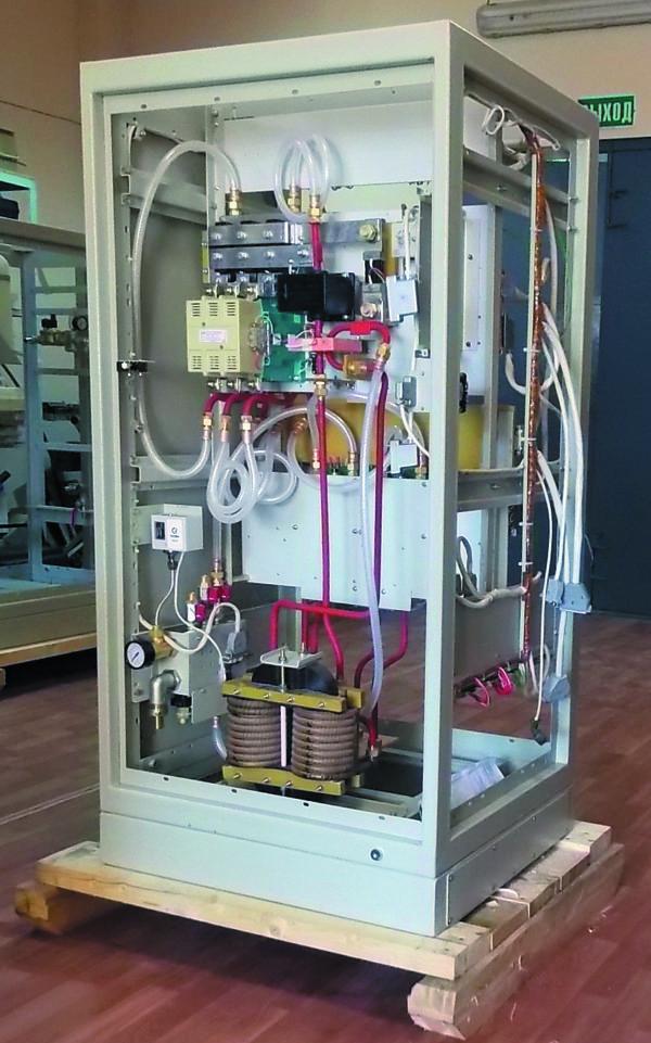 Конструкция шкафа преобразователя частоты ППЧ-160-2.4 (лицевая сторона)
