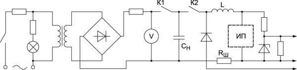 Электрическая схема формирователя импульсов тока