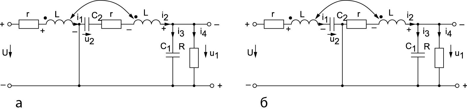 Полярности напряжений на элементах схемы Чука при пуске