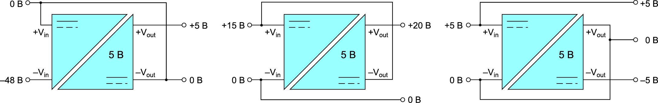 Несколько типичных вариантов практического применения изолированного DC/DC-преобразователя