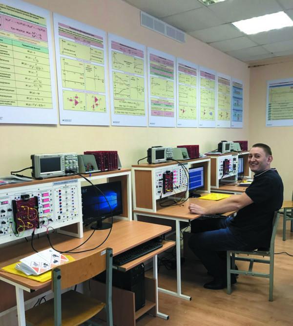 Лаборатория электроники высшего учебного заведения в г. Балашиха