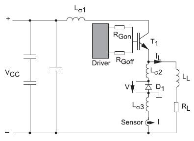 Схема дляанализа процесса выключения оппозитного диода