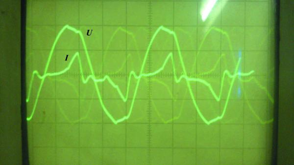 Входной ток и напряжение Т-образного ИЕП