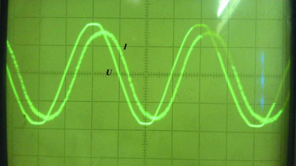 Входной ток и напряжение П-образного ИЕП