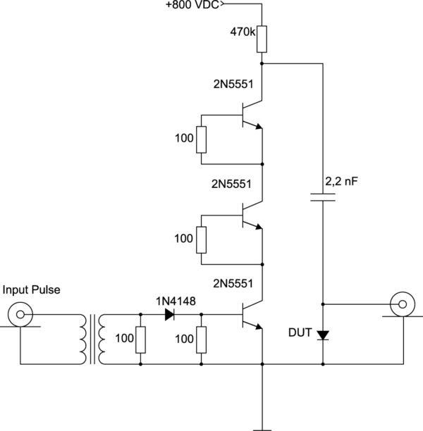 Схема для испытаний диода C3D03060A на dV/dt