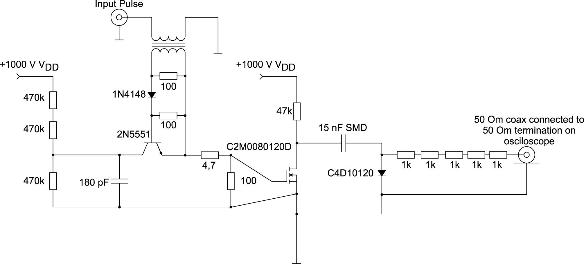 Схема установки для испытаний C4D10120A