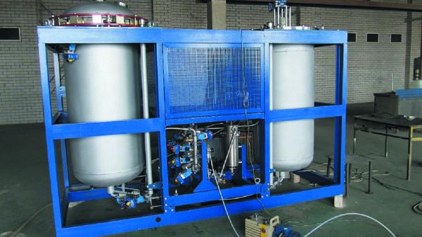 Сборка установки ВНП, высота установки более 2 м