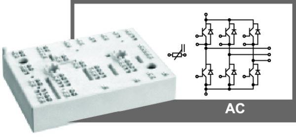 Внешний вид и электрическая схема модуля MiniSKiiP 39AC12T4V1