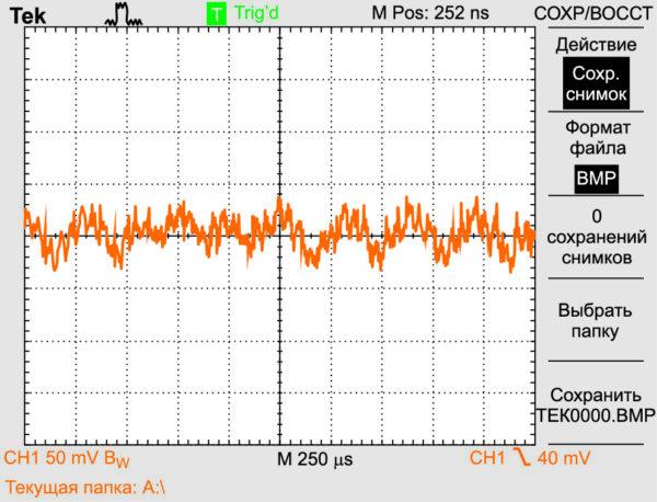 Пульсации выходного напряжения двух параллельно включенных МП, частоты преобразования которых не синхронизированы